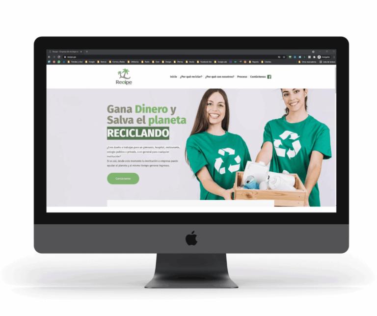 diseño de pagina web para recipe
